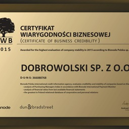 Certificate of Bussines Creditibility